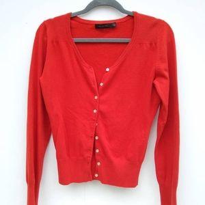 The Limited • burnt orange cardigan sweater